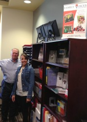 Tom Rose & Ileana Perez in the new Family Voices Colorado office