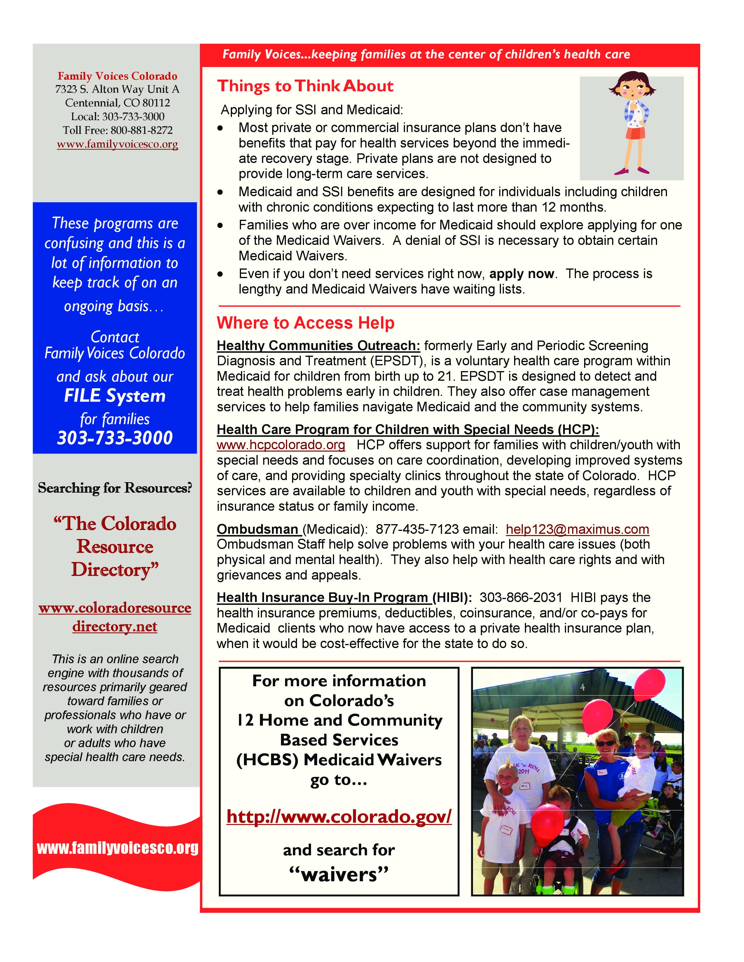 Medicaid | Family Voices Colorado