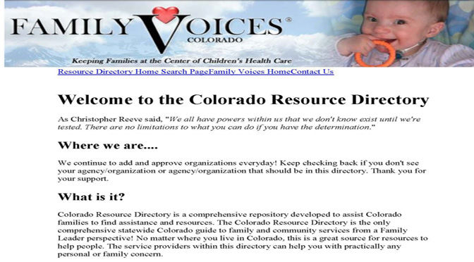 Colorado Resource Directory