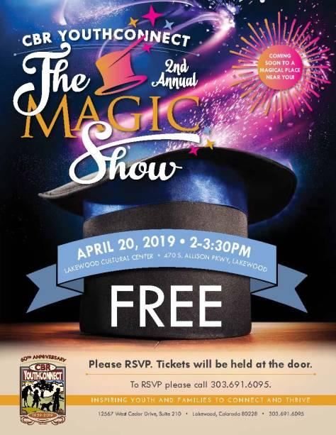 CBRYC FREE Magic Show April 20